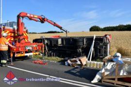 7. Aug. 2020 – Lastbil Væltede På Frørup Landevej I Christiansfeld.
