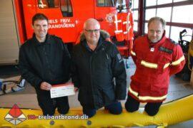 13. Feb. 2021 – Donation Til Trekantbrand Station Jels.